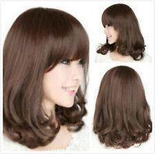 Hot Charming Curly Wavy Medium Women Heat Cosplay Party Full Hair Wig+Wig Cap