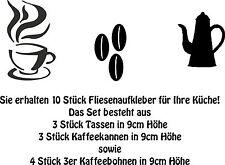 Wandaufkleber Fliesenaufkleber- 10er Set Fliesenaufkleber Kaffee -Artikel 435