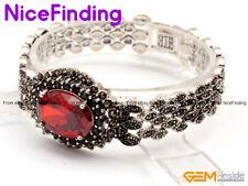 """Net Tibetan Silver Crystal Bracelet Bangle Vintage Fashion Jewelry 7"""" Gift Box"""