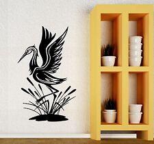 Wall Stickers Heron Marsh Nature Animals Bird Art Mural Vinyl Decal (ig111)