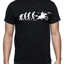 EVOLUTION OF JOUSTING TSHIRT T SHIRT XL XXL XXXL HORSE SPEAR LANCE ARMOUR KNIGHT