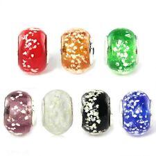 Beautiful Snowflake Lampwork Glass Beads Fit European Charm DIY Bracelet Gift
