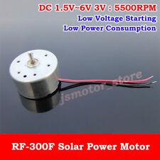 DC 1.5V 3V 5V 6V 5500RPM Mini 300 Solar Power Motor Small Round Toy Motor DIY
