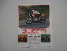 advertising Pubblicità 1978 MOTO DUCATI 350/500 SPORT DESMO