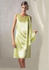 NWT $129 Designer EMERGE COLLECTION Drape Goddess DRESS in SILK Mela Green 10-14