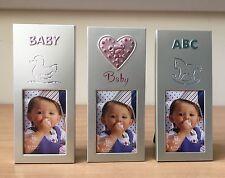 mini baby photo frames pink blue christening newborn babyshower baby gift