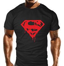 Mens Gym Workout MMA T-Shirt Bodybuilding Loose Fit T Shirt Top Gift Super Man