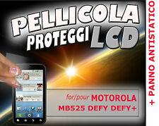 Pellicola protezione LCD per MOTOROLA MB525 DEFY + PANNO ANTISTATICO