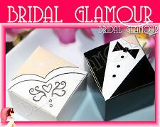 100pc-1000pc Bride & Groom 5x5cm Wedding Bomboniere Box Cube Favour Gift Candy