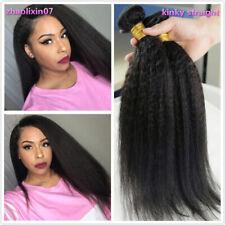 Yaki Kinky Straight Wave Human Hair 100% Brazilian Virgin Hair Extensions Weft