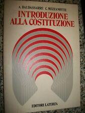 A.BALDASSARRE-C.MEZZANOTTE-INTRODUZIONE ALLA COSTITUZIONE-LATERZA-PRIMA ED.1986