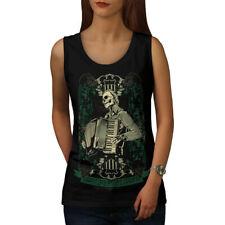 Wellcoda Hardcore Night Womens Tank Top, Accordion Athletic Sports Shirt