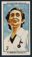 THE SUN 1979 SOCCERCARDS #552-TOTTENHAM HOTSPUR & ARGENTINA-OSVALDO ARDILES