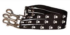 noir bleu violet ou rouge 3 voies chien chiot Coupleur laisse petit moyen 1.6cm