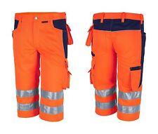 Arbeitsshorts orange 42-72 Warnschutzhose Kurze Hose Shorts Bermuda Arbeitshose