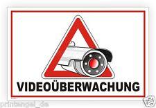 Videoüberwachung Schild Aufkleber Warnung Kamera Video Camera Vdeoüberwacht V77