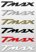 2 ADHESIVOS/PEGATINAS RESINA 3D ESCRITO TMAX para SCOOTER x MOTO YAMAHA T MAX