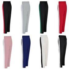Women Side a Rayas Pantalones Cintura Alta Informal Suelto lápiz de chándal S/