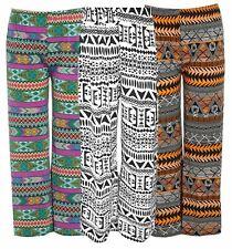 New Ladies plus size Stretch Waist Aztec Printed Palazzo trouser pants 16-26