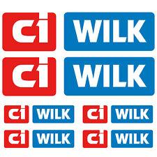 ci WILK XL aufkleber sticker wohnmobil camper wohnwagen caravan 6 Stücke Pieces