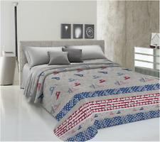 Biancheria/&Casa Completo Letto in Fantasia Made in Italy Cotone 100/% Francese Bandiera
