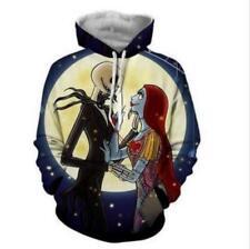 Nightmare before Christmas & Moon printed Pullover Pocket hoodie M-6XL hoodies