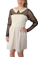 Querida Natalia Coqueta Vestido S-XL UK 10-16 PVP 59 manchada Lunares de Chifón