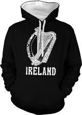 Ireland Coat of Arms Irish Harp Pride Eire Gaelic Celtic 2-tone Hoodie Pullover