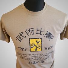 Enter the Dragon Hans Tournament Retro Movie T Shirt Bruce Lee MMA Tan Kung Fu