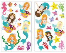 28-tlg Meerjungfrau Tiere Wandtattoo Set Kinderzimmer Babyzimmer Mädchen 3 Größe