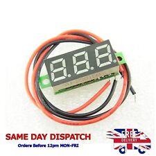 """DC 2.5-30V Voltmeter 0.28"""" Blue LED Panel Two Wire Digital Voltage Meter 12V"""