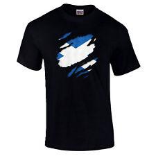 Torn Scotland Scottish Flag St Andrew Patriotic Pride Independance T-Shirt S-5XL