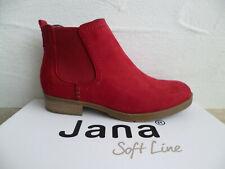 Jana Soft Line Stiefeletten Stiefelette Stiefel Slipper Boots rot 25376 NEU