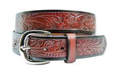 New Mens Embossed Leather Belts-321  Mens Belt Brigalow