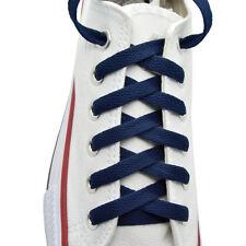 "Flat Shoelace 8 mm ""Navy Blue"" Athletic Sneakers 27"",36"",45"",54"",63"""