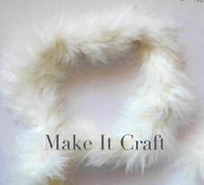 Ivory Marabou Feather Trim x 1 or 2 - metres - FREE POST