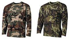 Langarm Shirt Woodland tarm, M 95 CZ, 160g/m2 MFH