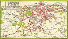 419  Vintage Railway Art Poster - Southern Electric Suburban Area