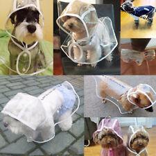 PVC Transparent Pet Coat Jacket Dog Puppy RainCoat Small Large Waterproof Hoodie