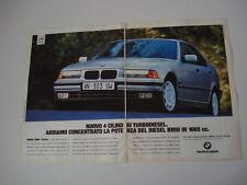 advertising Pubblicità 1995 BMW 318 TDS