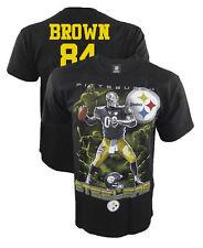 Pittsburgh Steelers Antonio Brown T-Shirt, Wide Receiver, Steel Curtain, NFL
