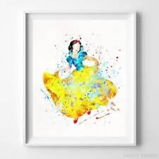 Snow White Type 2 Wall Art Disney Watercolor Poster Nursery Room Decor UNFRAMED