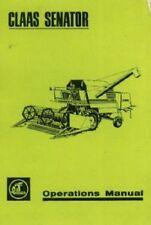 Claas Combine Senator Operators Manual