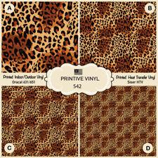 Fall Leopard animal print Pattern Printed Siser HTV, Oracal Adhesive Vinyl- 542