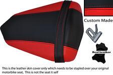 Negro Y Rojo Custom 06-07 Fits Yamaha 600 Yzf R6 Trasero necesidades cubierta de asiento