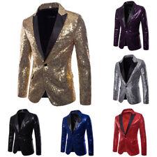 US Men's Casual Slim Fit One Button Suit Blazer Coat Jacket Tops M L XL XXL XXXL