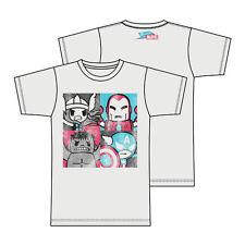 Tokidoki X Marvel Heroes T-shirt Anime Licensed NEW