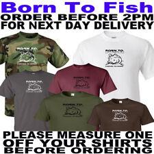 Nacido para Pescar Pesca De Carpa T Shirt