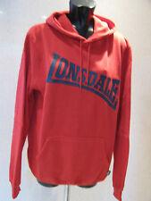 LONSDALE RED HOODIE / HOODY SWEATSHIRT MENS TOP SIZE MEDIUM LARGE X L