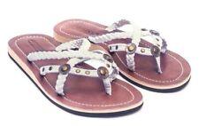 LESTARIE Damen Sandale Leder Sandalen Zehentrenner Flip Flops Zehensteg Gr.36-43